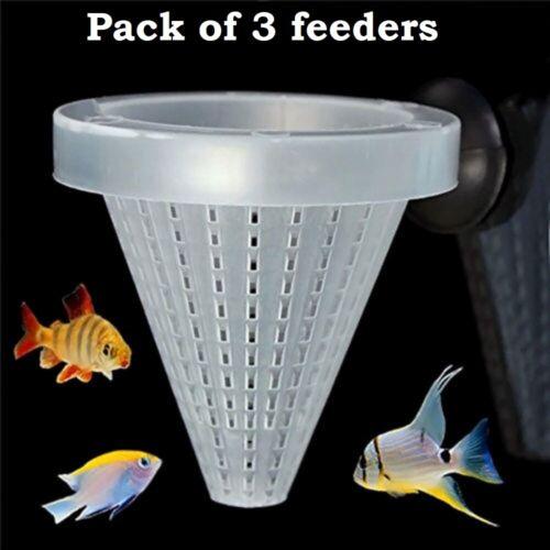 3X Aquarium Basket Feeder Fish Food Live Worm Bloodworm Cone Feed fishtank tank