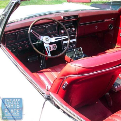 1968 Impala OEM Vinyl Covered Madrid Grain Dash Pad W/ AC - BRT Blue - Each