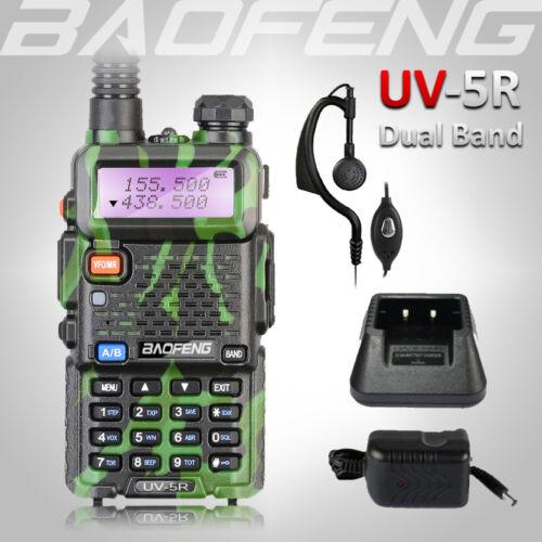 2018 BAOFENG UV-5R Green Dual Band 136-174/400-520Mhz Walkie Talkie Ham FM Radio