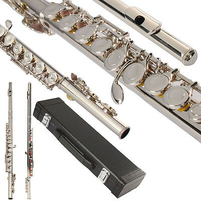 New Senior School Student Professional 16 Closed Hole C Tone Silver Color Flute