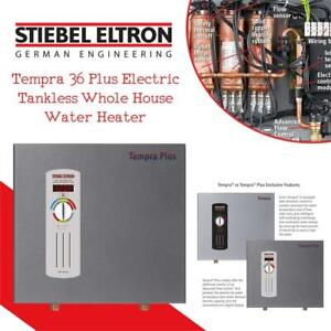 New Stiebel Eltron Tempra 36 Plus Electric Tankless Whole House Water Heater, 36 kW, 240-Volts , Condition: New