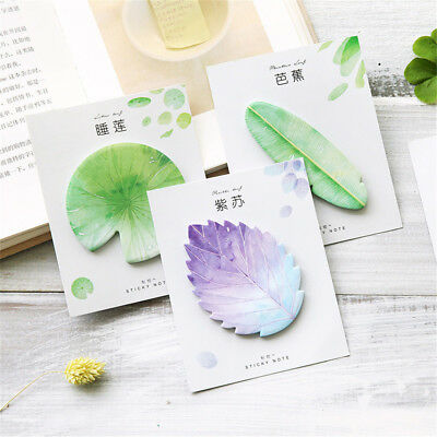 Natural Plant Leaf Memo Pad Sticky Notes Notepad Kawaii Stickers Message Note