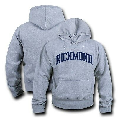 Game Day Hoody Sweatshirt - NCAA Richmond University Hoodie Sweatshirt Game Day Fleece Pullover Heather Grey
