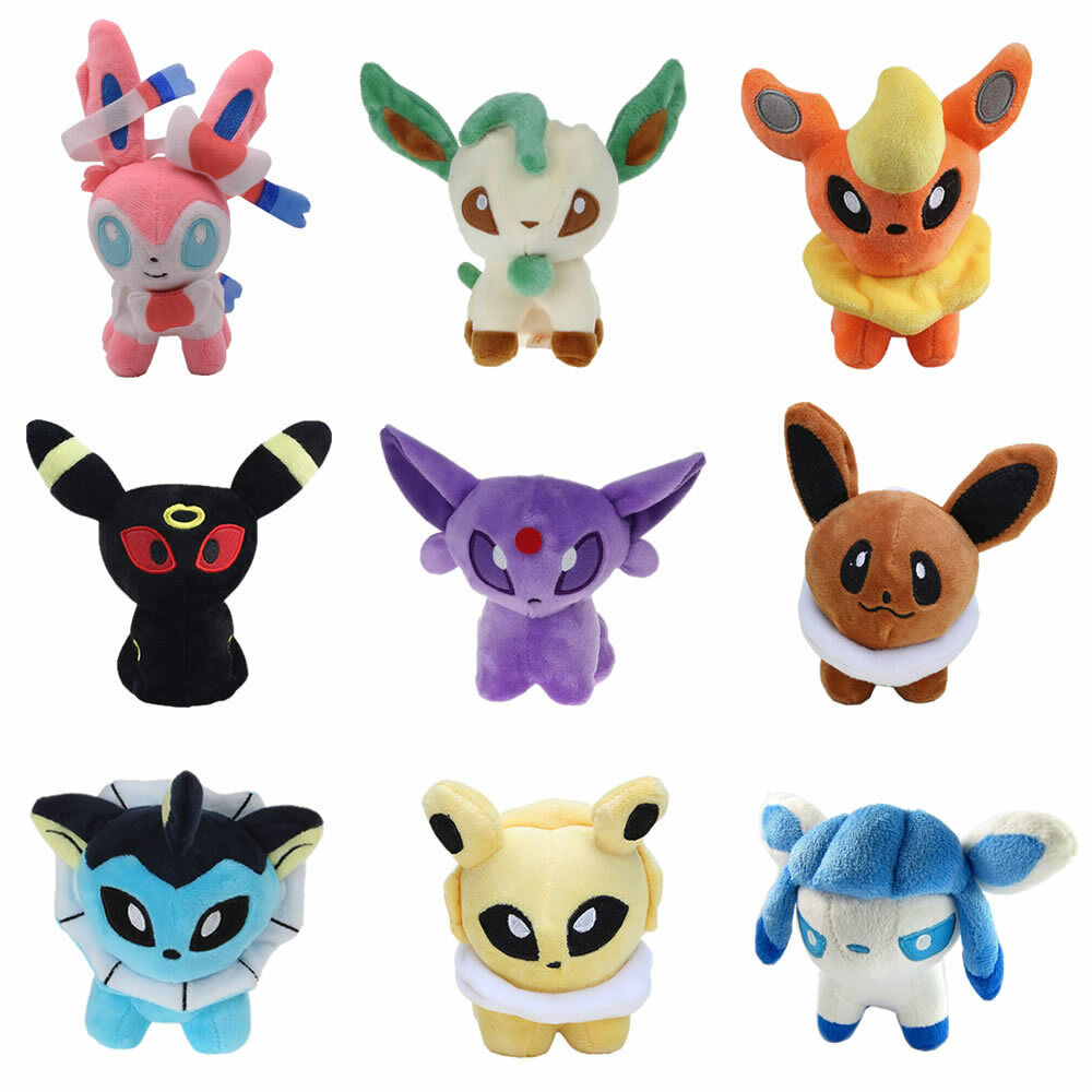Pokemon Eevee Leafeon Umbreon Jolteon Sylveon Plush Baby Toy Kids Gift