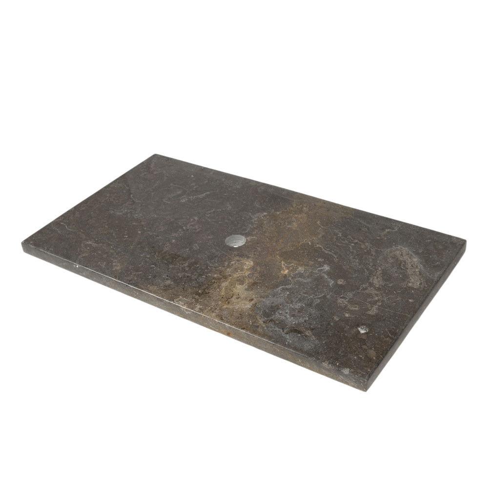 wohnfreuden Waschtischplatte Marmor schwarz poliert 93x52x3 cm Naturstein Platte