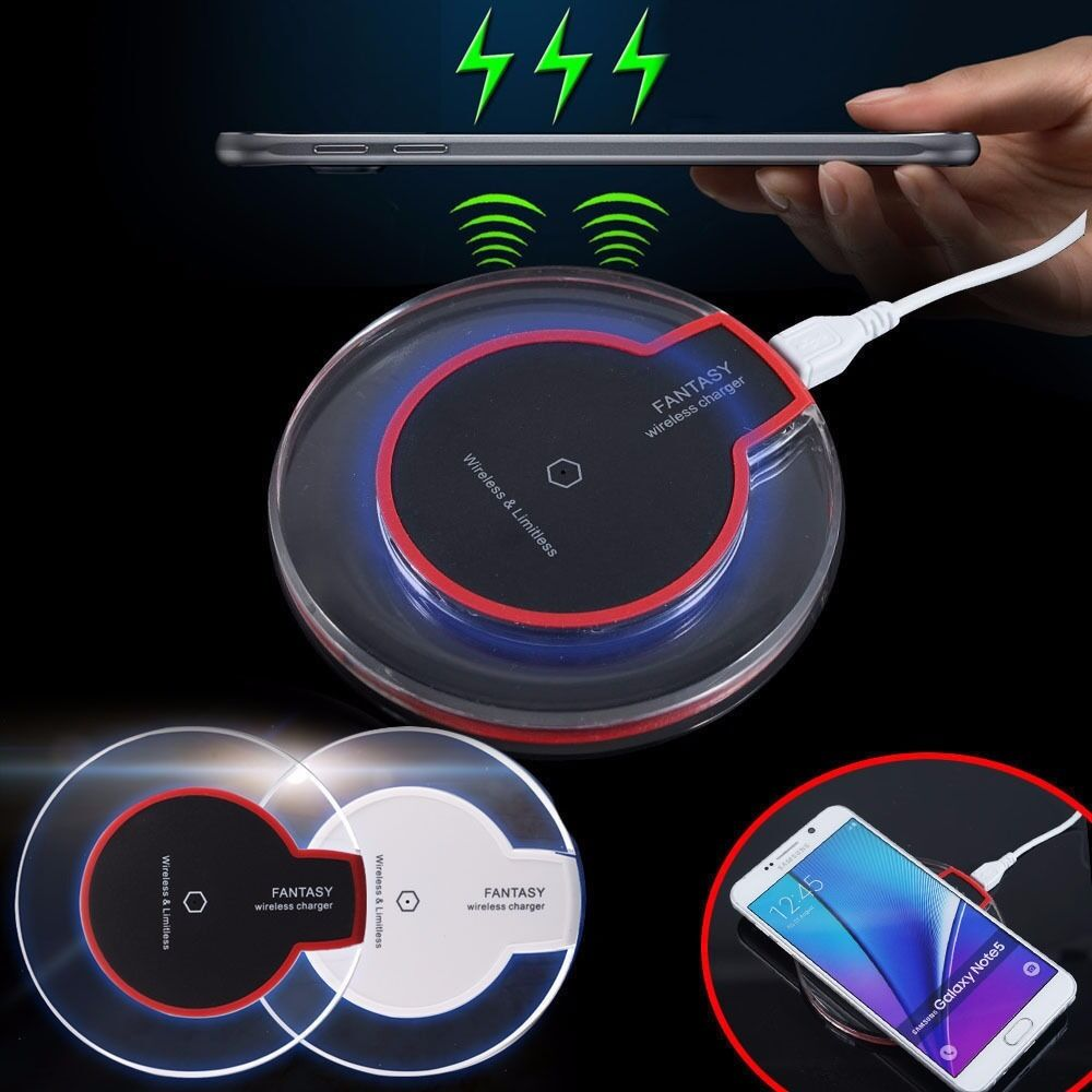 Qi Wireless Charging Charger Pad Mat Samsung Galaxy Note 5 S7 S6 Edge Job Lot