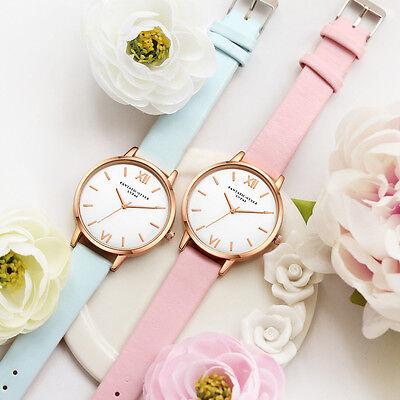 Fashion Women's Watch Roman Numerals Leather Analog Quartz Wrist Watches