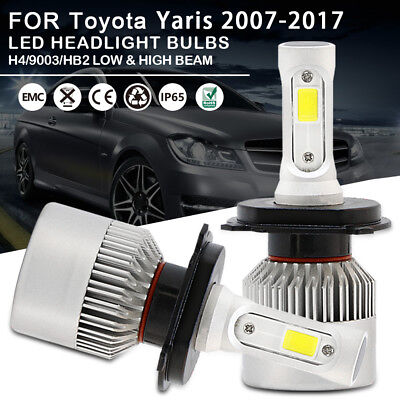 Car LED Headlight Bulbs Kit H4 9003 HB2 High Low Beam For Toyota Yaris 2007-2017
