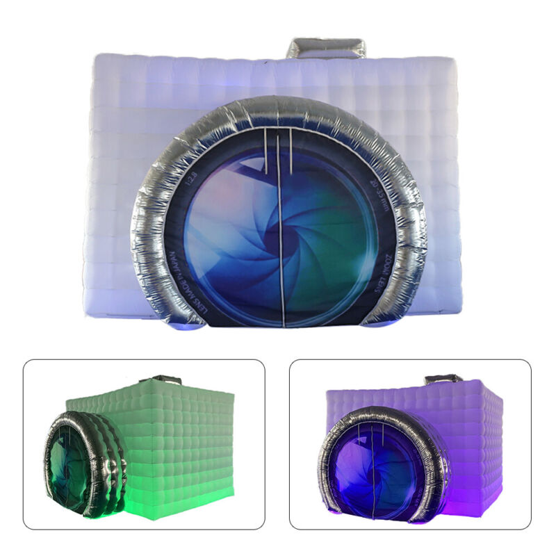 Inflatable Photo Booth Tent w/LED Light Strip&Fan For Wedding Party Event