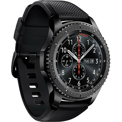 Samsung Gear S3 Frontier Bluetooth Watch with Built-in GPS - Dark Gray