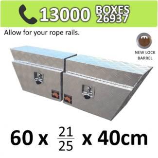 Aluminium Under Tray Body Toolboxes Ute Storage Box 624RL SET