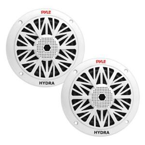 Pyle PLMR52 150 Watts 5.25'' 2 Way White Marine Speakers Marine Audio