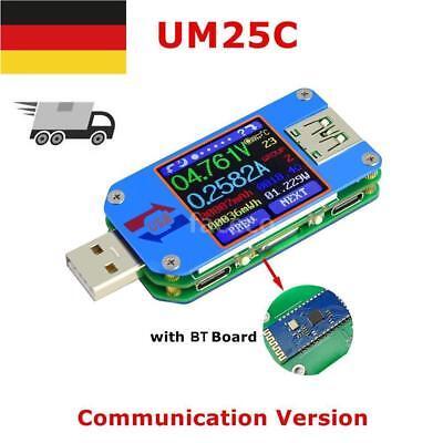 UM25C USB2.0 Tester Spannung Strom Meter Voltmeter Amperemeter Batterie G1G5