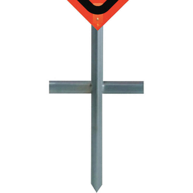 DICKE P100 In-Ground Sign Stand,Steel