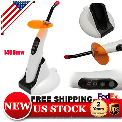 Dental Wireless Led-b Curing Light 5w Cordless Lamp 1400mw Woodpecker Style Usa