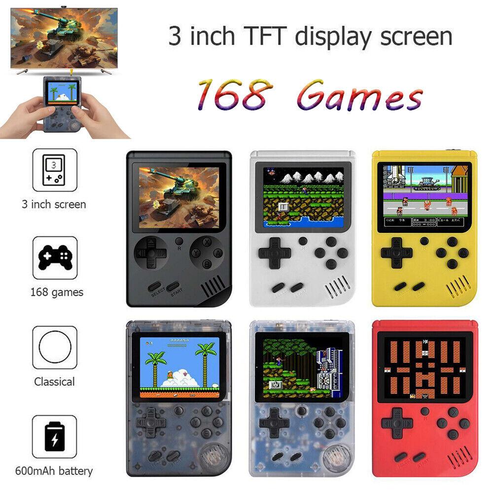 """3.0"""" Retro Mini Handheld Game Console Built-in 168 Classic G"""