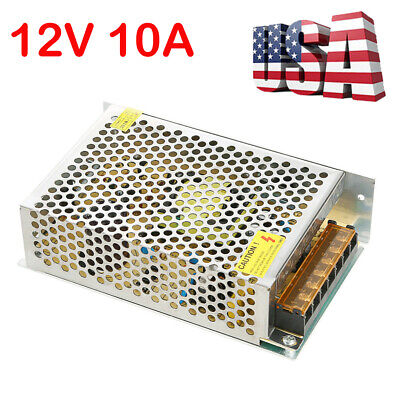 Ac 110v To Dc 12v 10a 120w Switch Power Supply Adapter For Flexible Led Strip