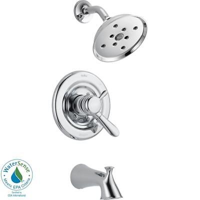 Delta Lahara 1-Handle H2Okinetic Tub and Shower Faucet Trim Kit in Chrome
