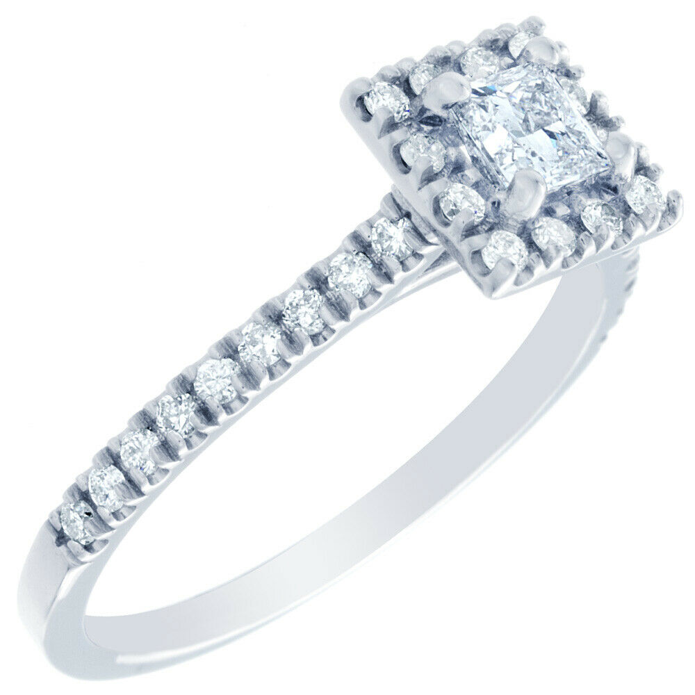 GIA Certified Diamond Engagement Ring 1.64 CTW Princess Cut 14k White Gold 3