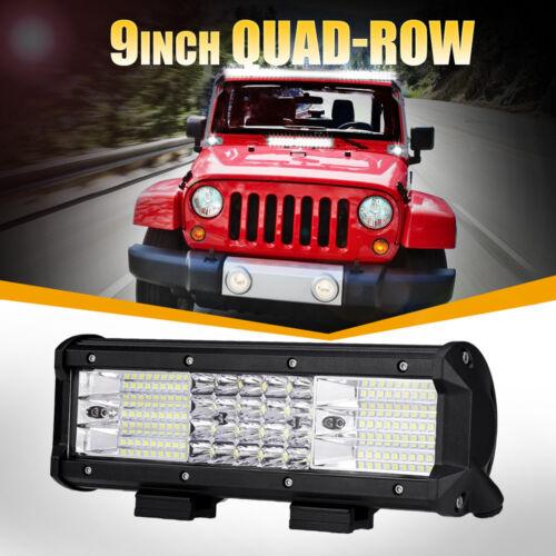 "9"" IN 888W Quad-Row CREE LED Work Light Bar Spot Flood Offroad 4WD ATV Truck Van"