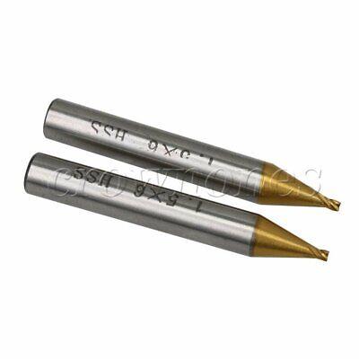 2 X Titanized 1.5mm Milling Key Cutter Key Machine Parts Locksmith Tools