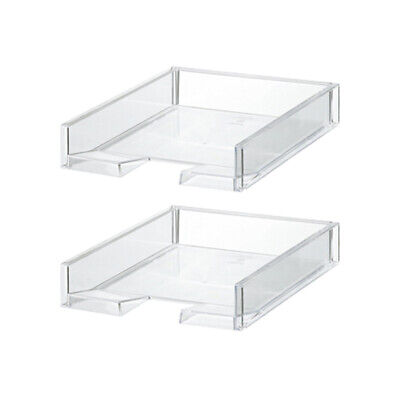 Like-It MX-18 Clear Easy Access Polystyrene Customizable Organizer (2 Pack) Easy Access Organizer