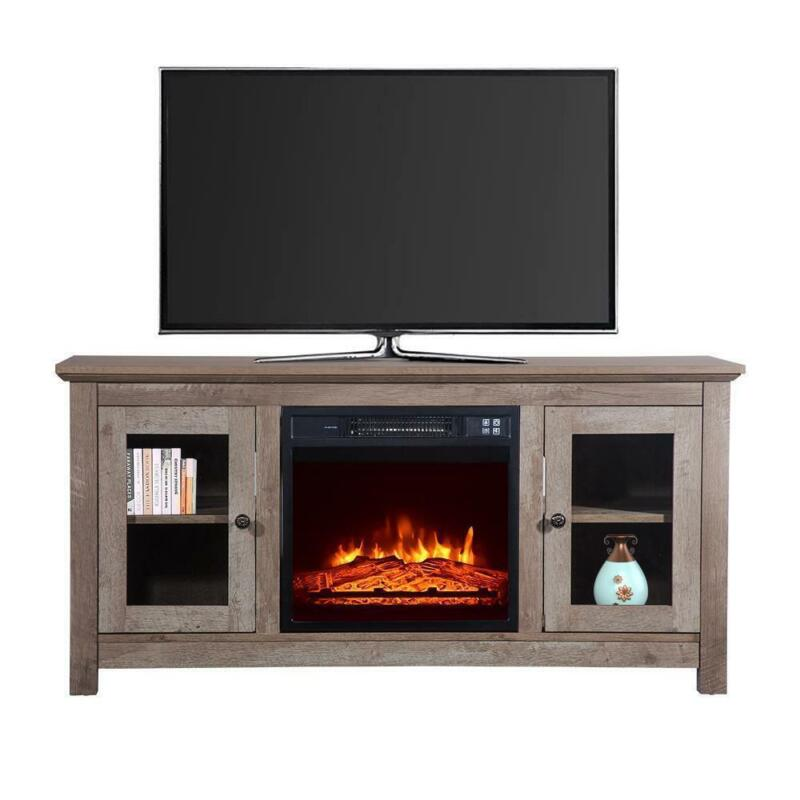 """1400W Electric Fireplace TV Stand 51"""" Wood Console Heater Entertainment 2021 US"""