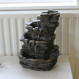 Polyresin Rock Effect Table Top Fountain Indoor Water Feature (NEW + FREE local delivery)