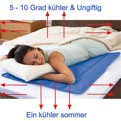 Kühlmatte Selbstkühlende Gel Pad Mat Matratze Topper Autositz Bett Sofa M - XXL