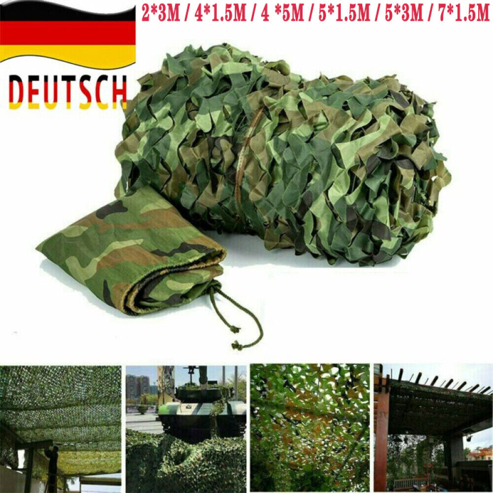 4x5m Tarnnetz flecktarn Bundeswehr Armee Netz Tarnung Jagd Outdoor Dekonetz DHL