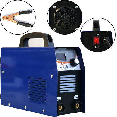 Tig 110v Dc Inverter 200amp Argon Gas Wig Arc Stick Mma Welding Machine Welder