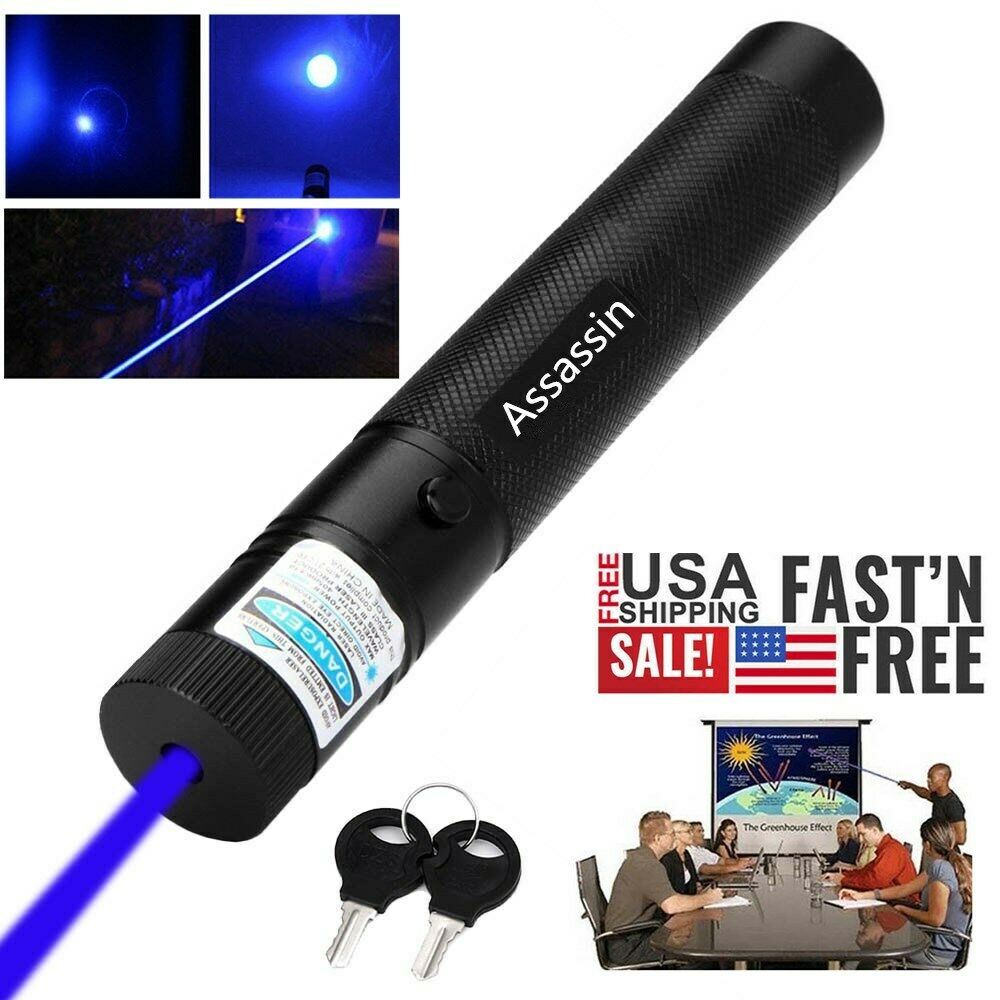 2PCS Assassin 20Miles Astronomy Light Red Laser Pointer Pen Pet Toy+Batt+Charger