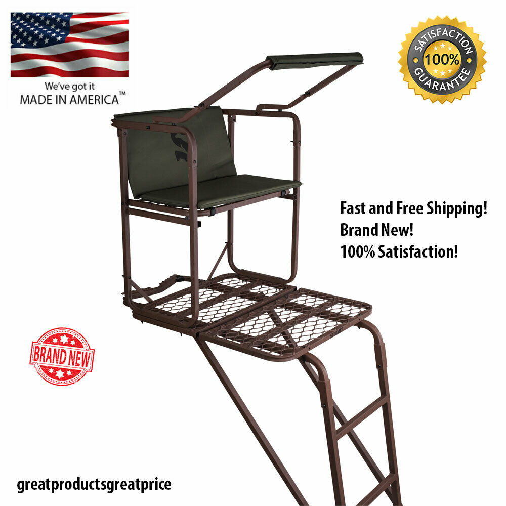 Summit Solo Pro Treestand Outdoor All-Steel Frame Ladder Sta