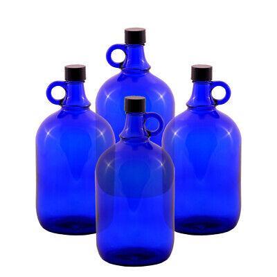 4 Unidad Globo de Cristal Botella 2 Litros Azul - Galón Damajuana...
