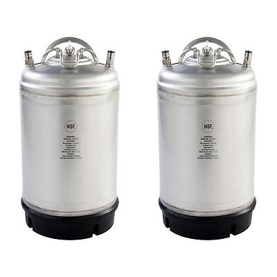 2 Pk - New 3 Gallon Ball Lock Kegs - Homebrew Cold Brew Coffee - Free Shipping