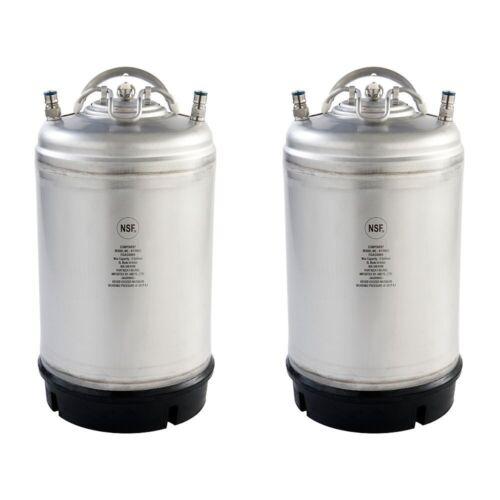 2 PK - NEW 3 Gallon Ball Lock Kegs - Homebrew & Cold Brew Coffee - Free Shipping