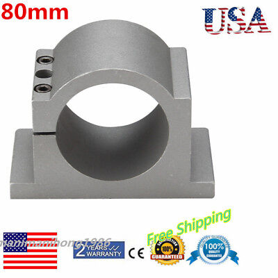 Mount Bracket Clamp 80mm Diameter Fit Spindle Motor Cnc Engraving Machine