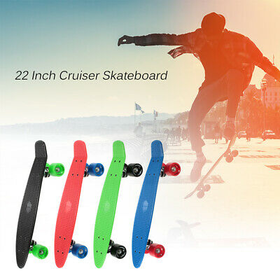 "TOMSHOO 22"" Skateboard Mini Cruiser Penniy Style Board Plastic Deck 4 Colors US"