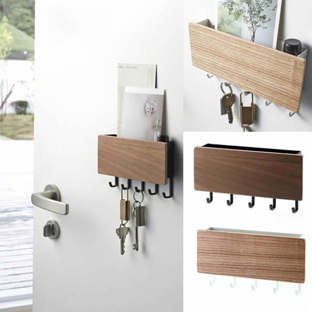 Adhesive Wall Hanging Key Hanger Key Holder Sundries Box for Doorway Entryway
