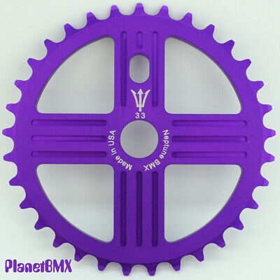NEPTUNE BMX HELM SPROCKET GEAR for 19mm spindles Made in USA 33 tooth BLUE
