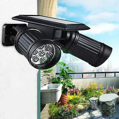 Outdoor solar lightsebay 1 outdoor 14 led solar powered dual head motion sensor garden light security lamp mozeypictures Images