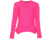 TED BAKER Womens / Ladies Mid Pink Daisuma Cable Knit Sweater size 3 / Medium, EXCELLENT CONDITION
