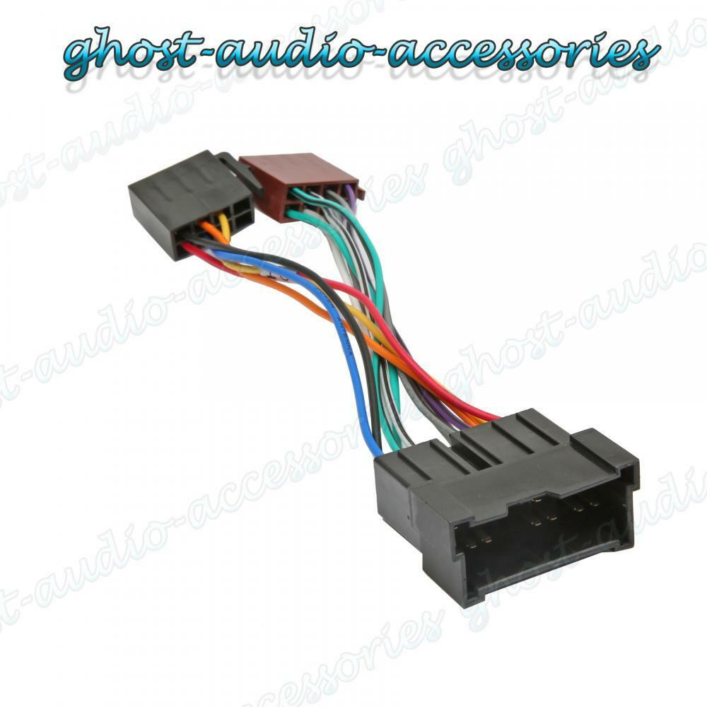 car stereo radio iso wiring harness adaptor loom for kia carens ii hy-100
