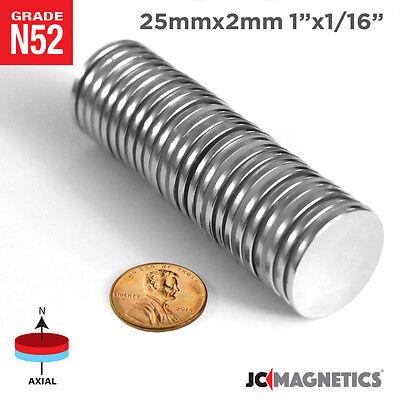 5 10 25 50 100pc 25mm X 2mm 1x116 N52 Strong Disc Rare Earth Neodymium Magnet