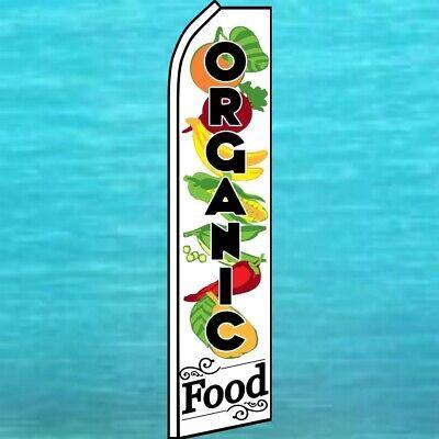 Organic Food Flutter Flag Produce Fruit Advertising Feather Swooper Banner Sign
