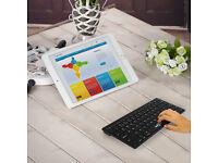 BATTOP Ultra Slim Wireless Bluetooth Keyboard For IOS IPAD Mac Android