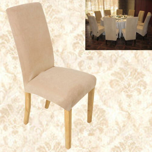Fitted Dining Room Chair Covers: 6x Super Removable Fit Stretch Short Dining Room Chair