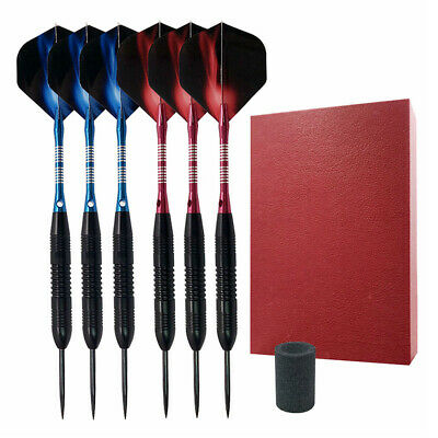 Dartpfeile 6 Stück Steel Dart Darts Pfeile Set Profi Steeldarts mit Metallspitze