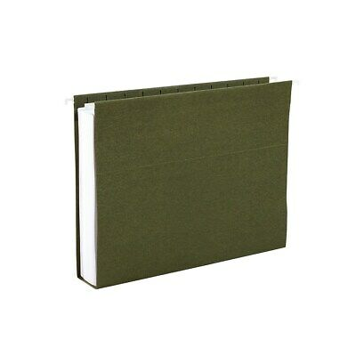 Staples Hanging File Folders 2 Expansion Legal Size Standard Green 25bx 117523