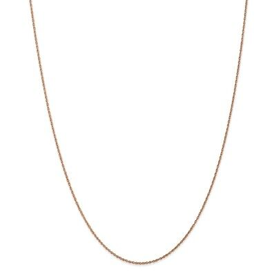 Real 14kt Rose Gold .8mm Light-Baby Rope Chain; 18 inch 18 Inch Baby Rope Chain